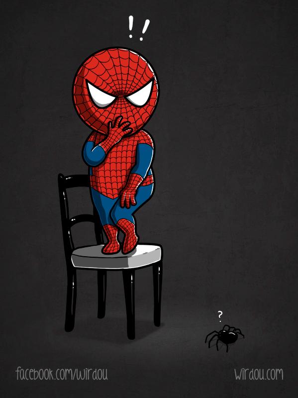 Scared Spiderman