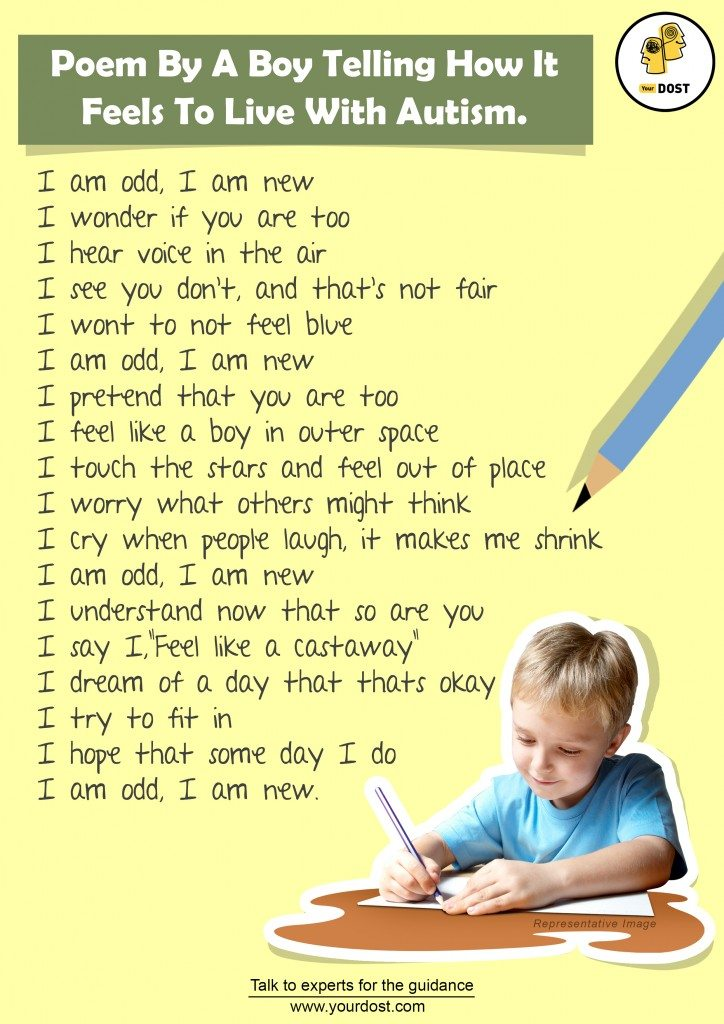A Poem By A Boy Expressing How It Feels To Be Autistic