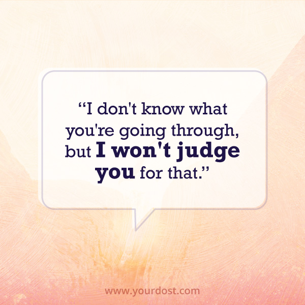 I won't judge