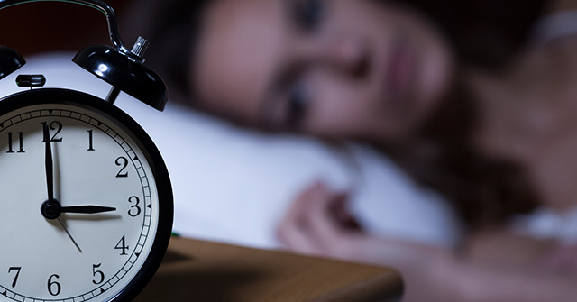 You don't get a good night's sleep'