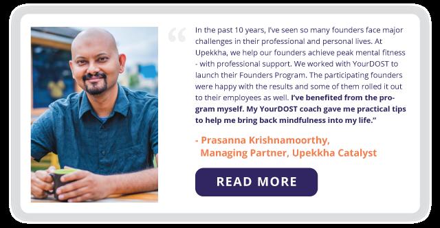 Prasanna Krishnamoorthy, Managing Partner, Upekkha Catalyst