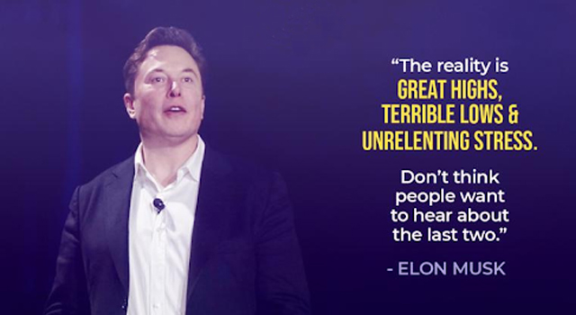 Elon Musk on the ups and downs of entrepreneurship